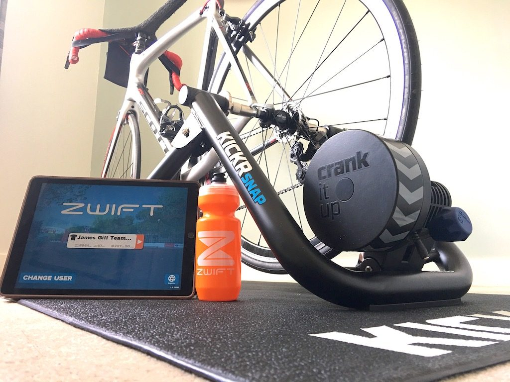 TitaniumGeek IMG 2017 2 1024x768 Wahoo KICKR SNAP Review   Zwift Gear Test Cycling Gear Reviews Smart Trainers Zwift  Zwift Gear Test Zwift Wahoo Turbo Trainer power meter KICKR   Image of IMG 2017 2 1024x768
