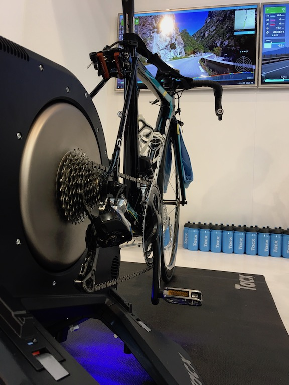 TitaniumGeek IMG 2183 The Tacx Smart Bike Landed at Eurobike... Well Revealed! Cycling Gear Reviews Smart Trainers  Zwift Turbo Trainer TacX Neo Tacx Smart trainer smart bike power meter   Image of IMG 2183