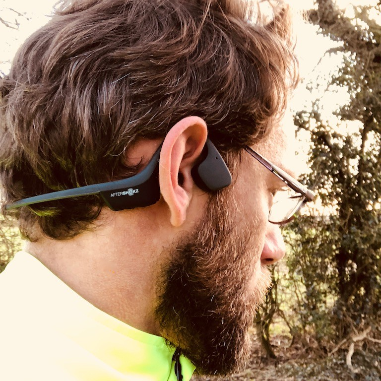 TitaniumGeek IMG 9400 AfterShokz Trekz Air Headphone Review   Music Through Bone Conduction Cycling Gear Reviews Running  running music headphones Aftershokz   Image of IMG 9400