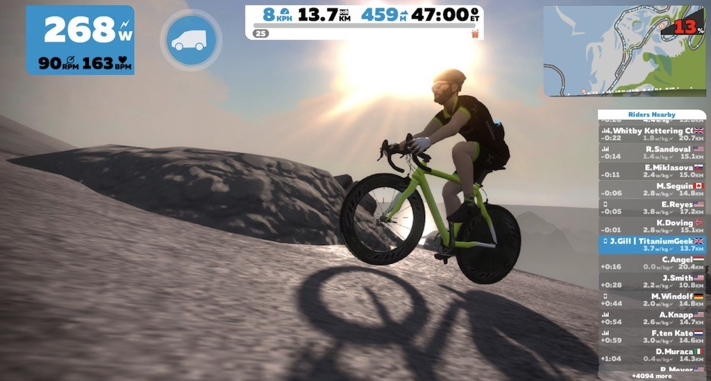 TitaniumGeek Screen Shot 2018 02 01 at 23.10.14 Kurt Kinetic Rock and Roll Smart Control Trainer Review | Zwift Gear Test Cycling Gear Reviews Smart Trainers Zwift  Zwift Gear Test Zwift Smart trainer power meter Kurt Kinetic   Image of Screen Shot 2018 02 01 at 23.10.14