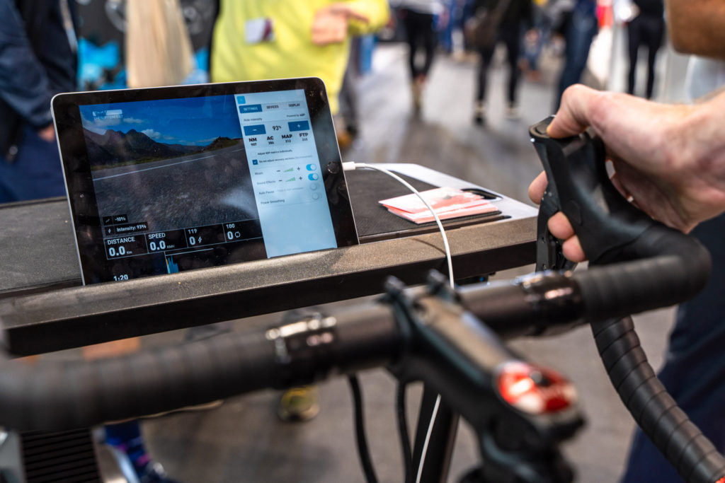 TitaniumGeek Eurobike 181 of 427 1024x683 Wahoo KICKR Bike   Wahoo Joins the Smart Bike Fight Cycling Gear Reviews Smart Trainers Zwift  Zwift   Image of Eurobike 181 of 427 1024x683