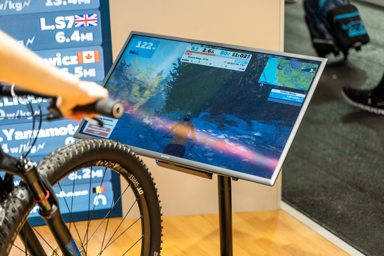 TitaniumGeek eurobike 156 of 427 Zwift Steering and Zwift Mountain Bike Course Revealed Cycling Gear Reviews Zwift    Image of eurobike 156 of 427