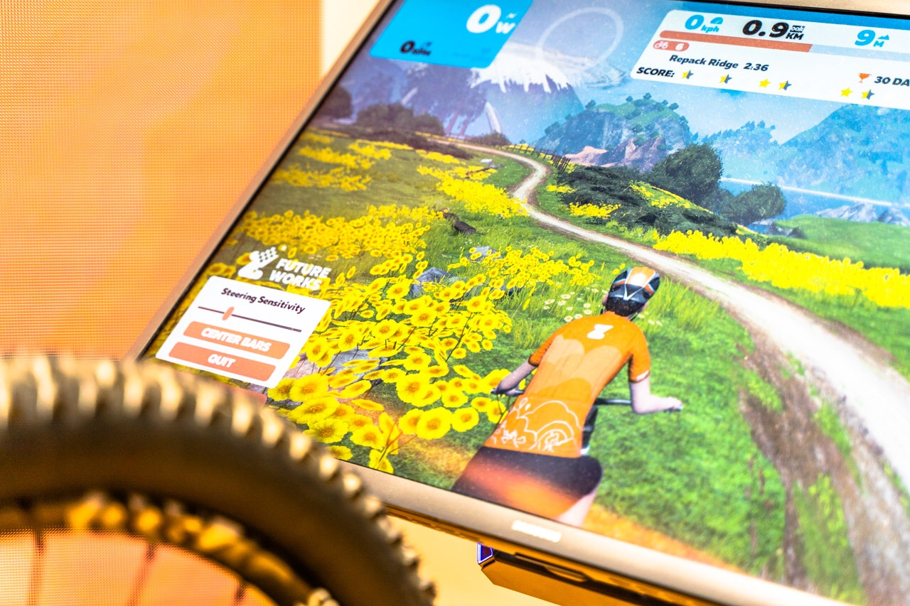 TitaniumGeek eurobike 167 of 427 Zwift Steering and Zwift Mountain Bike Course Revealed Cycling Gear Reviews Zwift    Image of eurobike 167 of 427